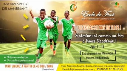 Présentation Ecole de Football Ivoire Académie
