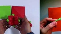 Como hacer una carta corazón de papel -- Origami de amor muy fácil
