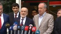 Cumhurbaşkanı adayı ve CHP milletvekili Muharrem İnce Saadet Partisi  ziyareti sonrası açıklamalarda bulundu