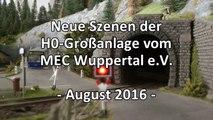 Die superschöne Modellbahn mit Straßenbahn in H0 vom MEC Wuppertal - Ein Video von Pennula zum Thema Modellbahnanlage und Modelleisenbahnausstellung