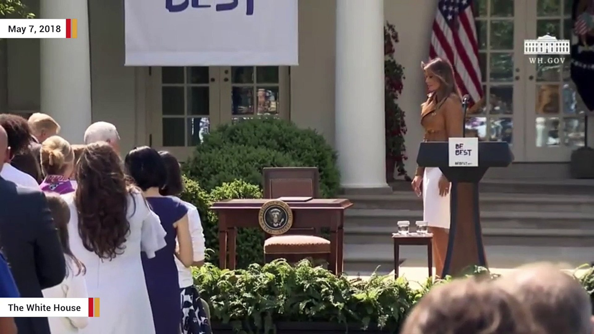 President Trump Joins Melania Trump For 'Be Best' Announcement, Signs Proclamation