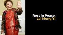 Veteran Malaysian actress Datuk Lai Meng dies at 90