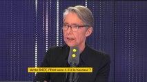 """Dette de la SNCF : """"Il n'y a pas d'argent magique, donc quand l'État reprend la dette, ça veut dire que ce sont les contribuables qui vont payer"""", Élisabeth Borne qui explique qu'un retour à l'équilibre est envisagé pour 2022"""