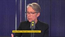 """Réforme du statut de cheminot de la SNCF: """"C'est un principe d'équité (...) C'est des économies à venir qui ont été chiffrées à une centaine de millions d'euros dans les dix prochaines années et par an"""", Élisabeth Borne"""