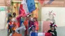 Foot à l'école - Les supporter de demain 2018 - Ecole E.Renan CM1B Villeparisis - Circonscription de Claye-Souilly