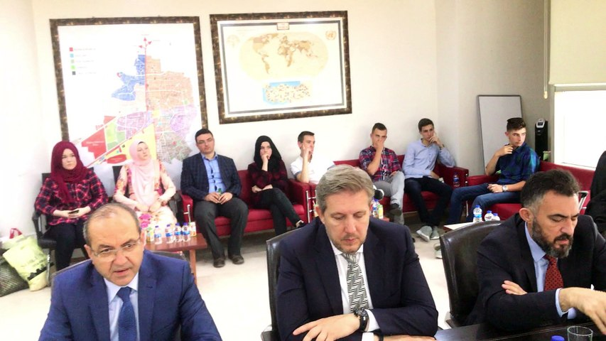Bosna Hersek Medrese Öğrencileri Akhisar Belediye Başkanı Salih Hızlı ziyareti