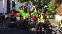 L'arrivée de la 5 ème étape se fait dans une ambiance festive à l'Ermitage les Bains #LaReunion #Mayotte #diversite #Runhanditour