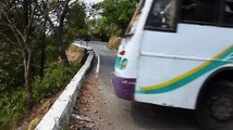 Most Dangerous and difficult Hairpin bend Road in India...!!!!!