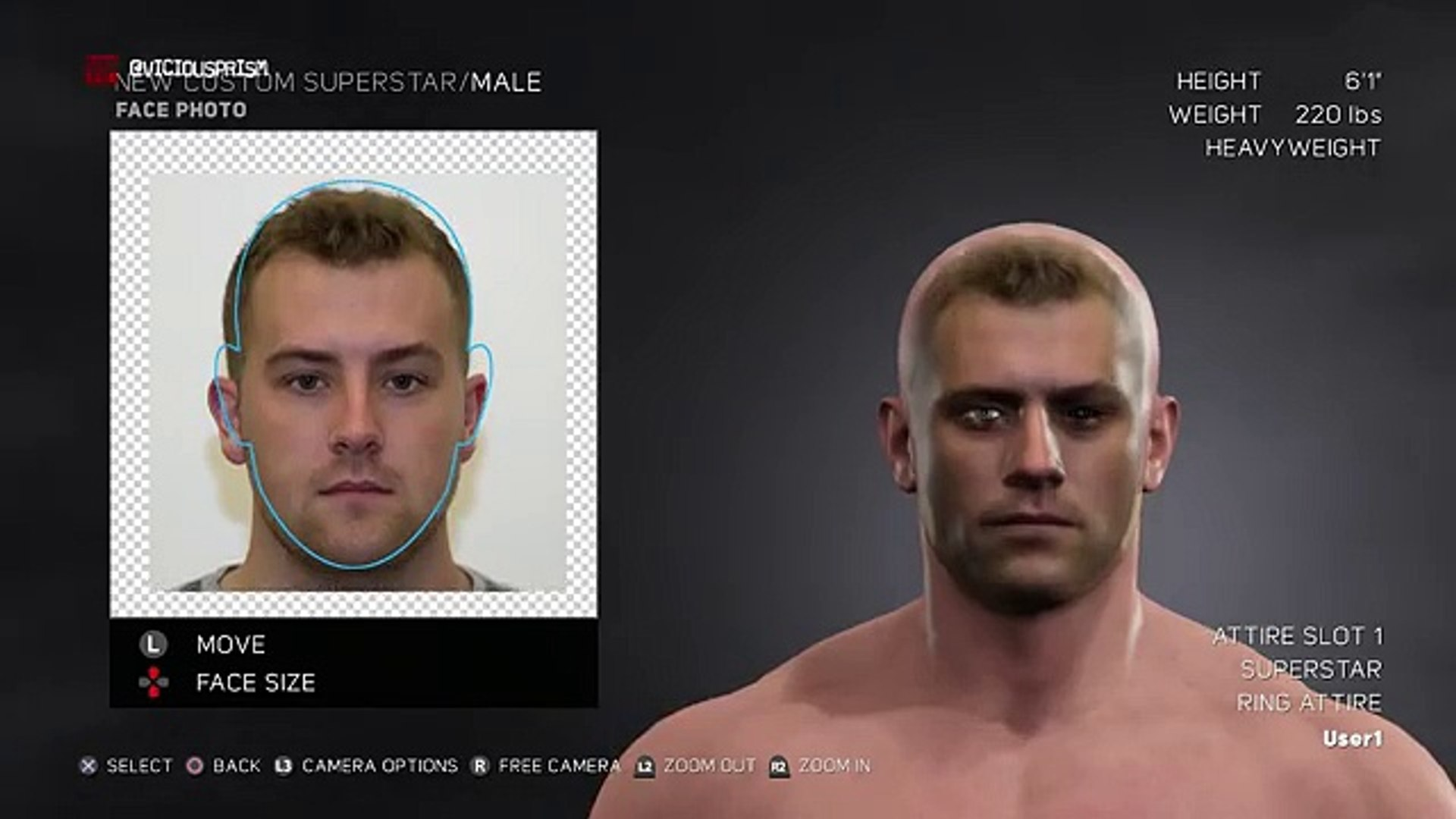 WWE 2K17 CAW Mode - Body Customization
