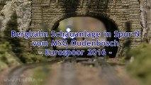 Spur N Modellbahnanlage einer Bergbahn vom Eisenbahn-Club MSG Oudenbosch - Ein Video von Pennula zum Thema Modellbahnanlage und Modelleisenbahnausstellung