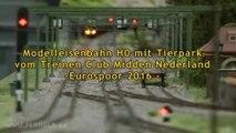 Modelleisenbahn H0 mit Tierpark vom Treinen Club Midden Nederland - Ein Video von Pennula zum Thema Modellbahnanlage und Modelleisenbahnausstellung
