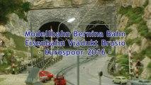 Modelleisenbahn mit Eisenbahn Viadukt Brusio RhB Bernina Bahn - Ein Video von Pennula zum Thema Modellbahnanlage und Modelleisenbahnausstellung