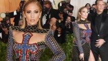 Jennifer Lopez crosses her heart in glittering Balmain as she graces Met Gala with Alex Rodriguez