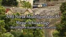 NMJ Norsk Modelljernbane Schauanlage auf der Modellbahn Ausstellung Köln 2016 - Ein Video von Pennula zum Thema Modelleisenbahnanlage und Modellbahnausstellung