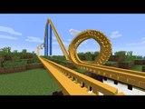 Minecraft: MONTANHA RUSSA VERDADEIRA NO MINECRAFT?! :O (Roller Coaster Mod)