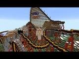 Minecraft: ANDANDO NÚ NA MONTANHA RUSSA!! (The Jerky Turkey Roller Coaster)