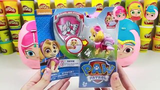 Shimmer and Shine Grant a Wish Leah Surprise Play Doh Egg Sh