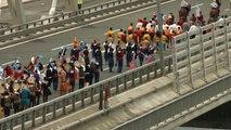 Etnospor'da Yer Alacak Sporcular Yavuz Sultan Selim Köprüsü'nden Atlarıyla Geçti