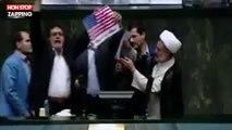 Iran : Le Parlement brûle un drapeau américain et scande des chants anti-américains (Vidéo)