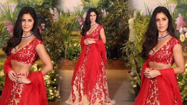Sonam Kapoor Reception: Katrina Kaif SIZZLES in Red Hot Lehenga; Watch Video। FilmiBeat