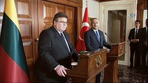 Dışişleri Bakanı Çavuşoğlu Litvanya Dışişleri Bakanı ile ortak basın toplantısı düzenledi