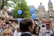 Allocution du Président de la République, Emmanuel Macron lors du festival en plein air du prix charlemagne à Aix-la-Chapelle
