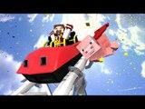 Minecraft: A MAIOR MONTANHA RUSSA DO MINECRAFT!! (When Pigs Fly Roller Coaster)