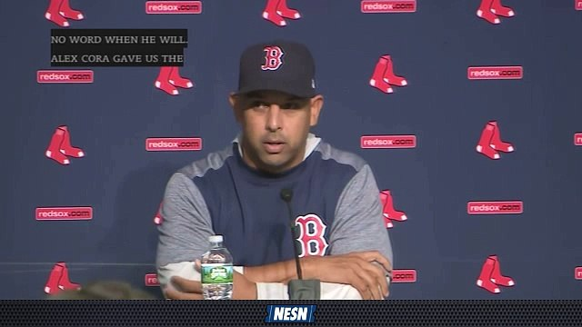 Red Sox Gameday Live: Alex Cora's Update On David Price