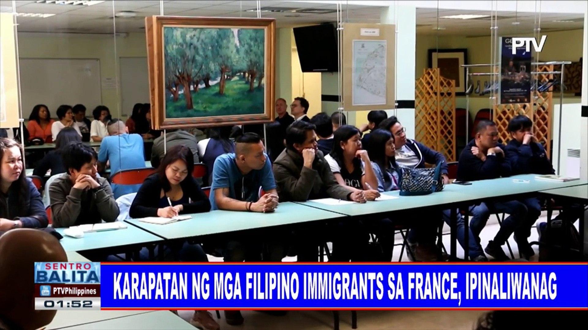 Karapatan ng mga Filipino immigrants sa France, ipinaliwanag