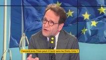 """S'opposer aux États-Unis sur la question iranienne est """"un très bon test pour l'Europe, pour l'Europe que le président de la République défend. C'est-à-dire une Europe unie et qui est précisément capable de tenir tête"""", Gilles Le Gendre (LREM)"""