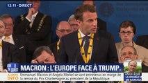 """Europe: """"Ce rêve est rongé par le doute. A nous de savoir si nous voulons le faire vivre ou le laisser mourir"""", déclare Macron"""
