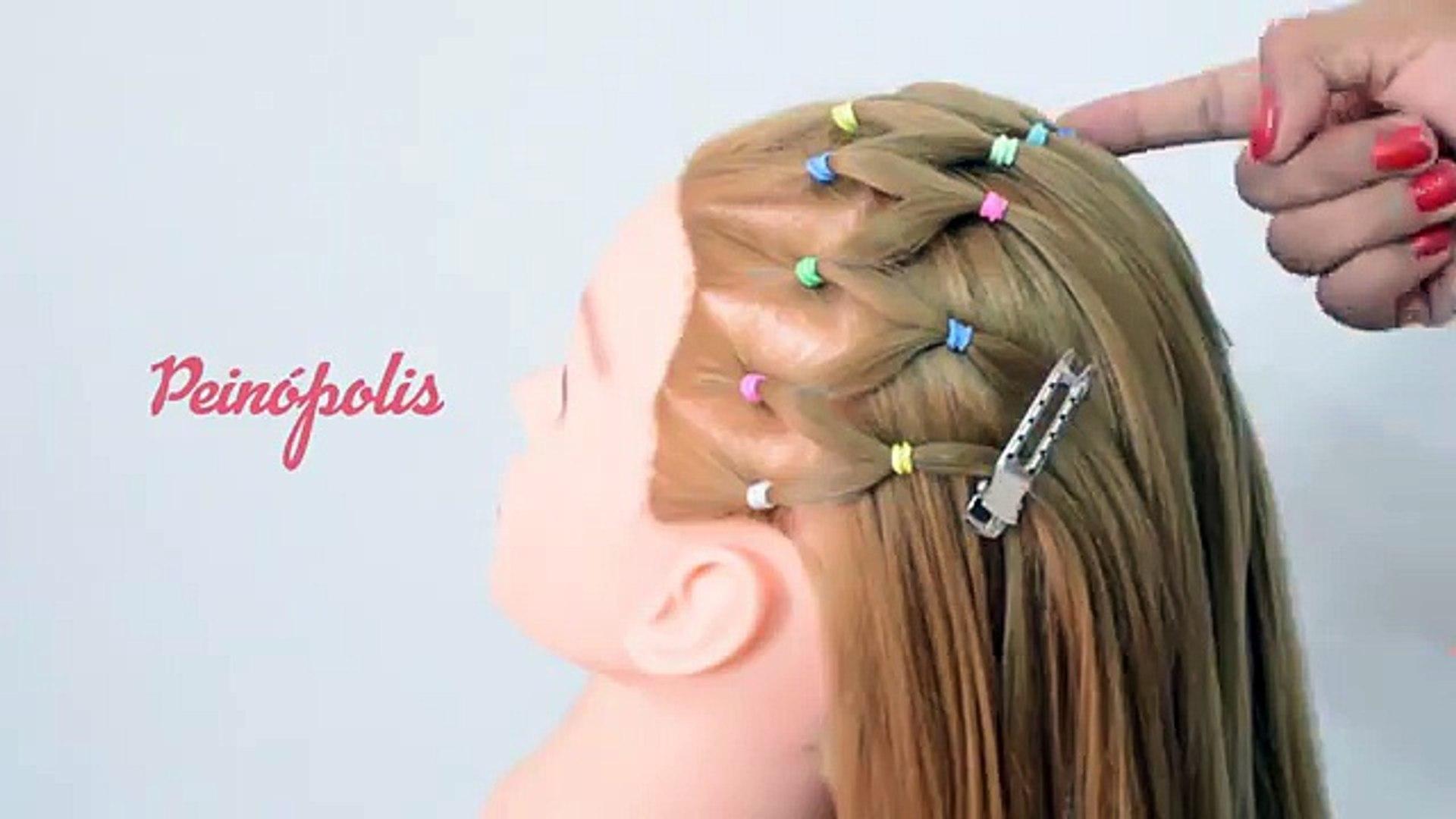 Peinados Para Ninas Con Ligas Faciles Y Rapidos Y Bonitos