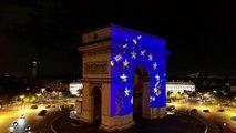 Pour la fête de l'Europe, l'Arc de Triomphe se met aux couleurs de l'Union