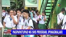 Pagpaptupad ng SHS program, ipinagmalaki