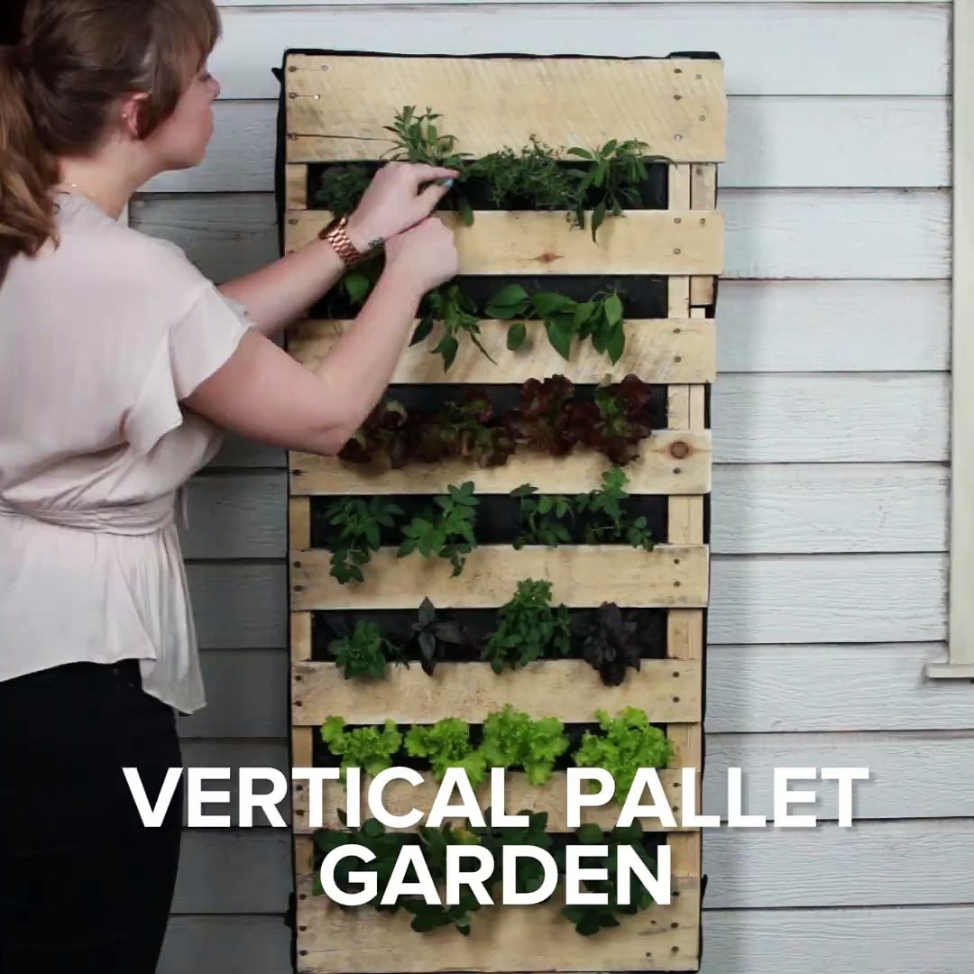 This pallet garden is perfect for gardening if you don't have a large outdoor space Check out m