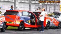 VW Polo Stunt show at BIC, Side Wheelie at new JK Tyre Championship