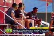 Selección Peruana: jugador histórico francés los visitó durante entrenamientos