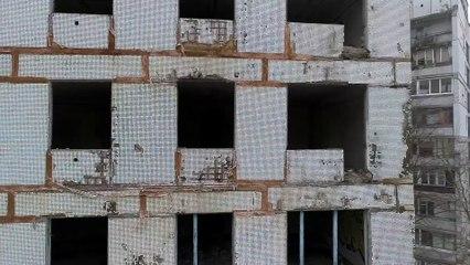 Заброшенный дом №9 на жилом массиве Тополь-1, Днепр. Как выглядит пустой дом на Тополе с высоты