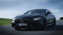 The all new Mercedes-AMG GT 63 S 4MATIC+ 4-Door Coupe on the Race track