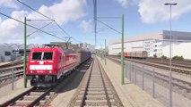Railway station Ingolstadt Audi Animation