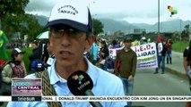 Docentes colombianos exigen al gobierno cumplir acuerdos del 2017