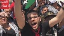 Decenas de personas protestan cerca de Israel en solidaridad con Palestina