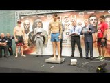 MURRAY VS  BAJREKTAREVIC WEIGH IN AND FACE OFF. HIGH STAKES