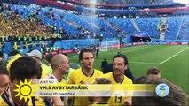 """Marcus Berg i lyckotårar """"Tänker på fansen, familjen - alla som stöttar oss"""" - Nyhetsmorgon (TV4)"""
