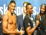 Dillian Whyte TURNS BACK ON vs Anthony Joshua FACE OFF @ WEIGH IN