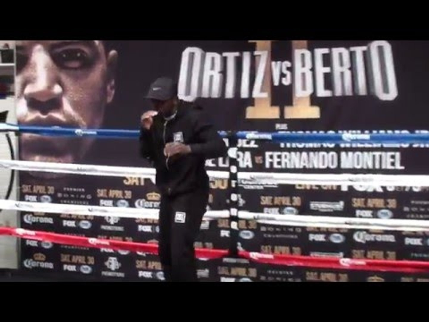 Andre Berto SHADOW BOXING! FINAL WORKOUT vs Victor Ortiz 2