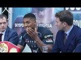 Anthony Joshua vs Dominic Breazeale FINAL PRESS CONFERENCE