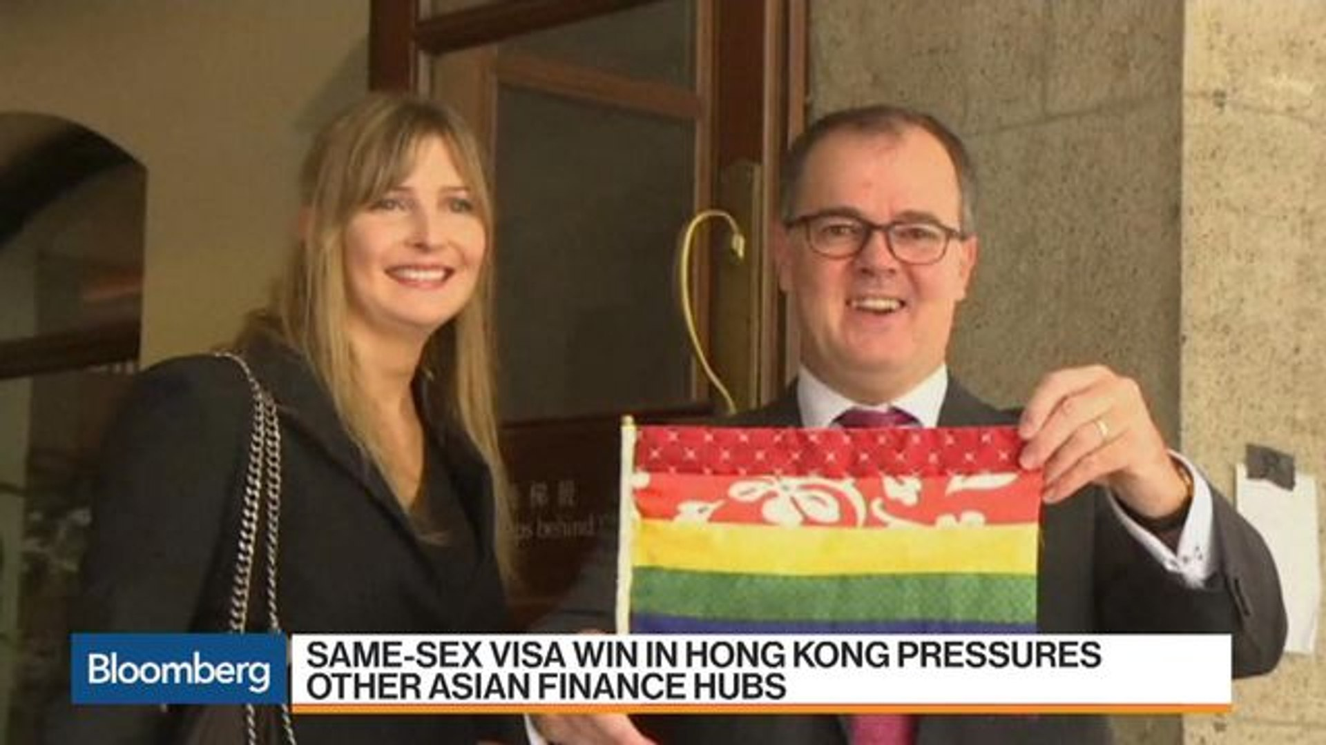Same-Sex Visa Win in Hong Kong Pressures Other Asia Finance Hubs