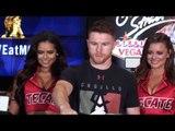 Canelo Alvarez ARRIVES! vs Julio Cesar Chavez Jr. - MEXICAN FANS GO CRAZY!!! Las Vegas.