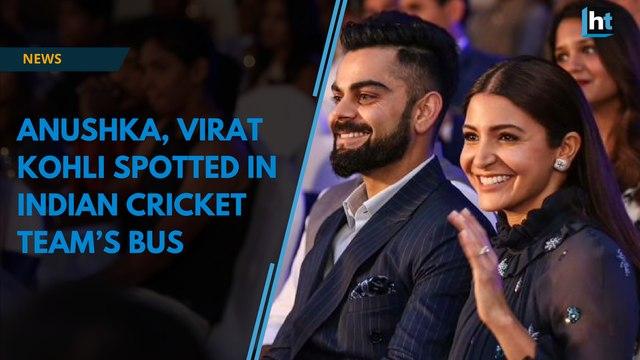 Anushka Sharma, Virat Kohli spotted in Indian Cricket Team's bus